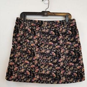 Massimo floral corduroy mini skirt size 12.